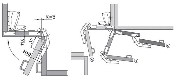 петля карусельная схема открывания.
